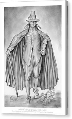 Deacon Samuel Chapin Canvas Print by Greg Joens