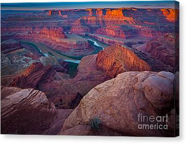 Dead Horse Point Dawn Canvas Print by Inge Johnsson