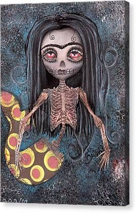 Dead In The Flesh Canvas Print by  Abril Andrade Griffith
