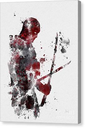 Deadpool Canvas Print by Rebecca Jenkins