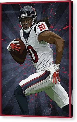 Deandre Hopkins Canvas Print by Semih Yurdabak