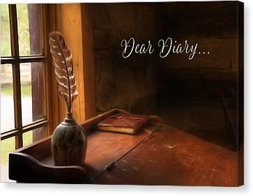 Dear Diary Canvas Print by Lori Deiter
