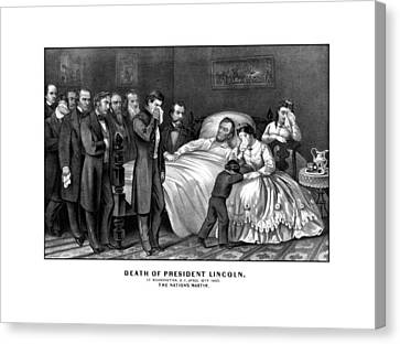 Death Of President Lincoln Canvas Print by War Is Hell Store