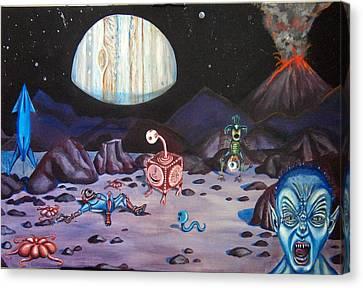 Death On Io Canvas Print by Chris Benice