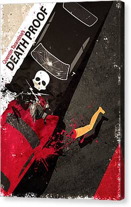Death Proof Quentin Tarantino Movie Poster Canvas Print by Lautstarke Studio