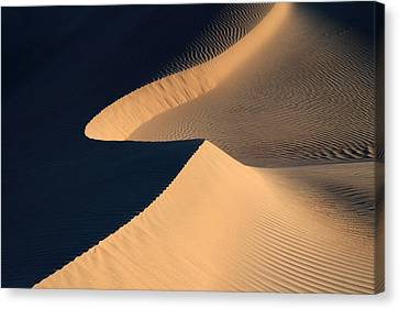Death Valley Sand Design Canvas Print by Pierre Leclerc Photography