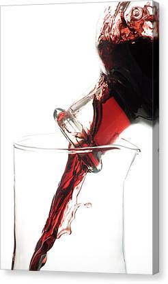 Decanting Red Wine Canvas Print by Frank Tschakert