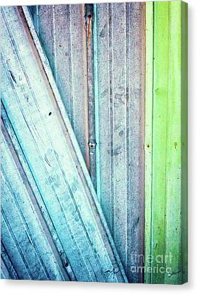 Decayed Metal Door Canvas Print by Silvia Ganora