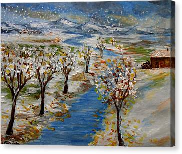 December Canvas Print by Constantinos Charalampopoulos