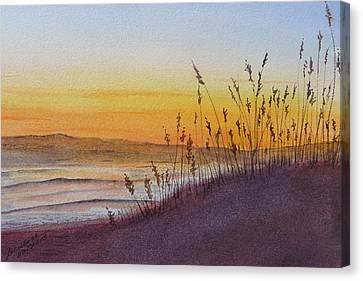 December Dawn - Kitty Hawk Canvas Print by Joel Deutsch
