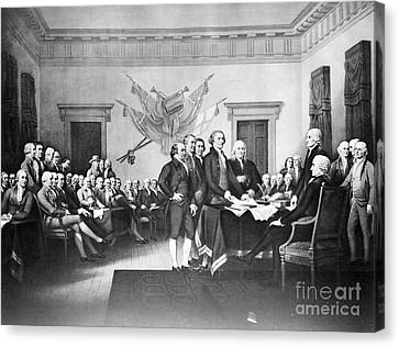 Declaration Of Independence Canvas Print by Photo Researchers, Inc.