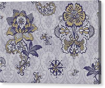 Deco Flower Blue Canvas Print by JQ Licensing