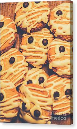 Decorated Shortbread Mummy Cookies Canvas Print by Jorgo Photography - Wall Art Gallery