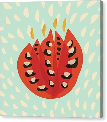 Decorative Beautiful Abstract Tulip Canvas Print by Boriana Giormova