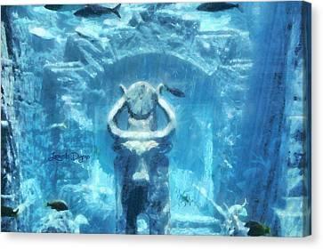 Deep Atlantis Canvas Print by Leonardo Digenio