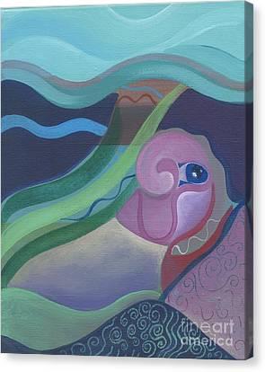 Deep Canvas Print by Helena Tiainen