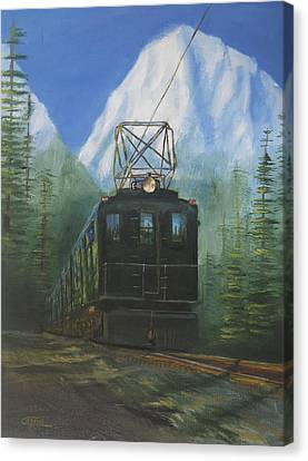 Deep In The Cascades Canvas Print by Christopher Jenkins