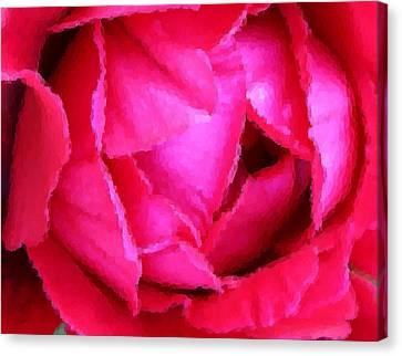 Deep Inside The Rose Canvas Print by Kristin Elmquist