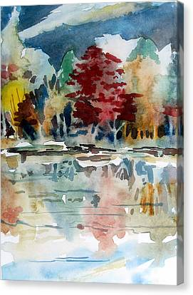 Deep Into Autumn Canvas Print by Mindy Newman