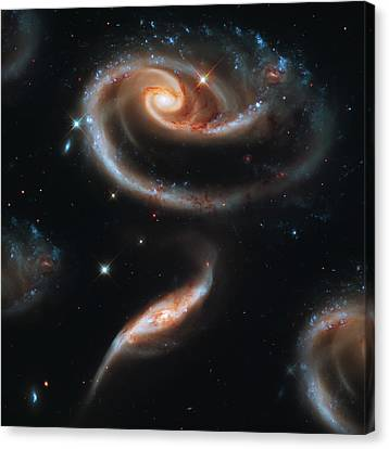 Deep Space Galaxy Canvas Print by The  Vault - Jennifer Rondinelli Reilly