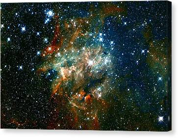 Deep Space Star Cluster Canvas Print by The  Vault - Jennifer Rondinelli Reilly