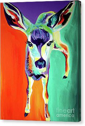 Deer - Fawn Canvas Print by Alicia VanNoy Call