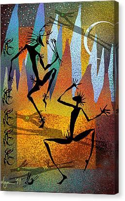 Deer Blessing Canvas Print by Angela Treat Lyon