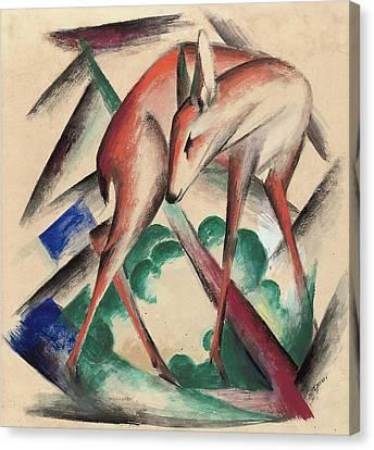 Deer Canvas Print by Franz Marc