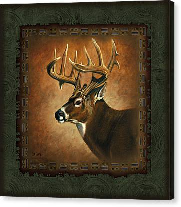 Deer Lodge Canvas Print by JQ Licensing