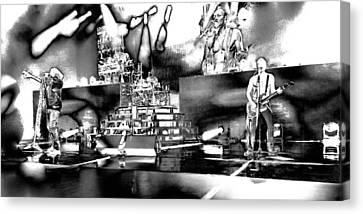 Def Leppard At Saratoga Springs 6 Canvas Print by David Patterson