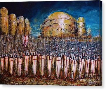 Defence Of Jerusalem Canvas Print by Kaye Miller-Dewing