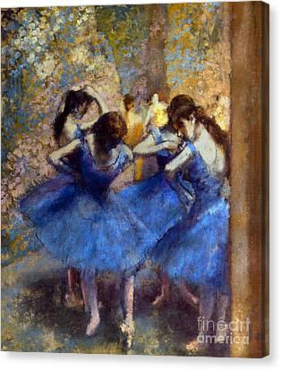Degas: Blue Dancers, C1890 Canvas Print by Granger