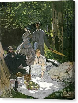 Dejeuner Sur Lherbe Canvas Print by Claude Monet
