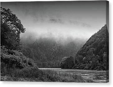 Delaware Water Gap Clouds Set In Canvas Print by Raymond Salani III