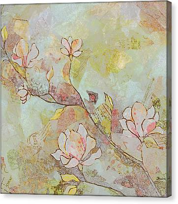 Delicate Magnolias Canvas Print by Shadia Zayed
