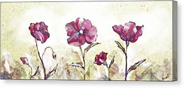 Delicate Poppy II Canvas Print by Shadia Zayed