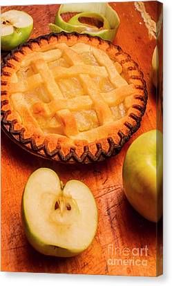 Delicious Apple Pie With Fresh Apples On Table Canvas Print by Jorgo Photography - Wall Art Gallery