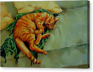 Delicious Sleep Canvas Print by Jolante Hesse
