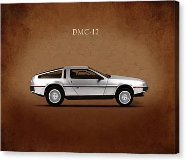 Delorean Dmc-12 Canvas Print by Mark Rogan