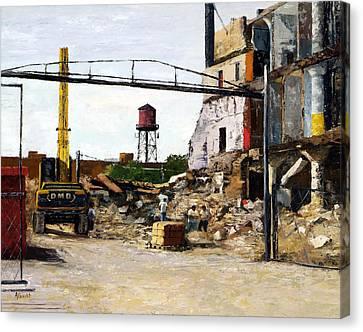 Demolition 4  Canvas Print by Nancy Albrecht