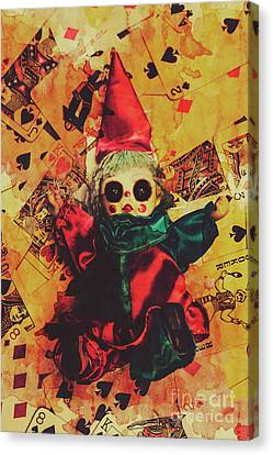Demonic Possessed Joker Doll Canvas Print by Jorgo Photography - Wall Art Gallery