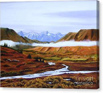 Denali Autumn Canvas Print by Mary Rogers