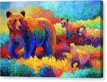 Denali Family Canvas Print by Marion Rose