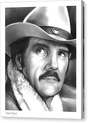 Dennis Weaver Canvas Print by Greg Joens