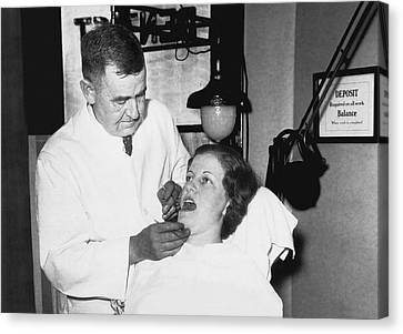 Dentist Has Cure For Pyorrhea Canvas Print by Underwood Archives
