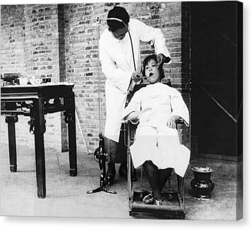 Dentistry In China Canvas Print by Underwood Archives