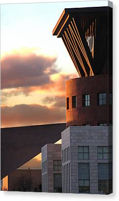 Denver Art Museum And Library Canvas Print by Jeff Ball