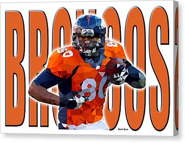 Denver Broncos Canvas Print by Stephen Younts