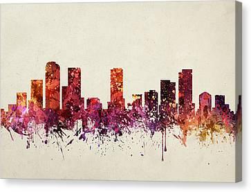 Denver Cityscape 09 Canvas Print by Aged Pixel