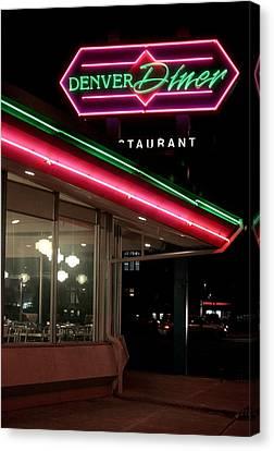 Denver Diner Canvas Print by Jeff Ball